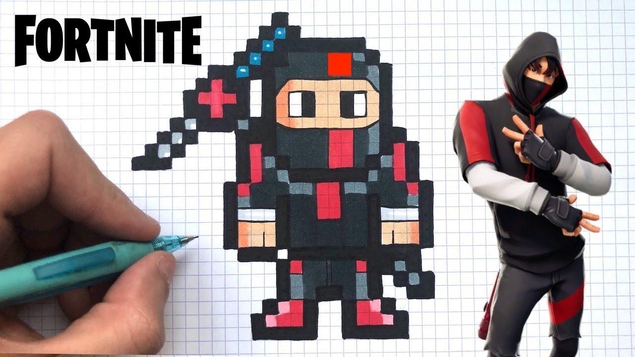Dessin Facile Ikonik Pixel Art Fortnite serapportantà Jeu De Coloriage Pixel