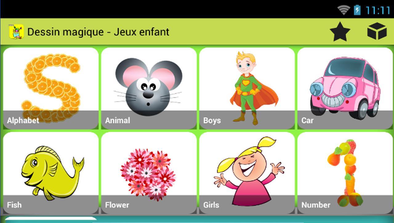 Dessin Magique - Jeux Enfant For Android - Apk Download serapportantà Jeux Enfant Dessin