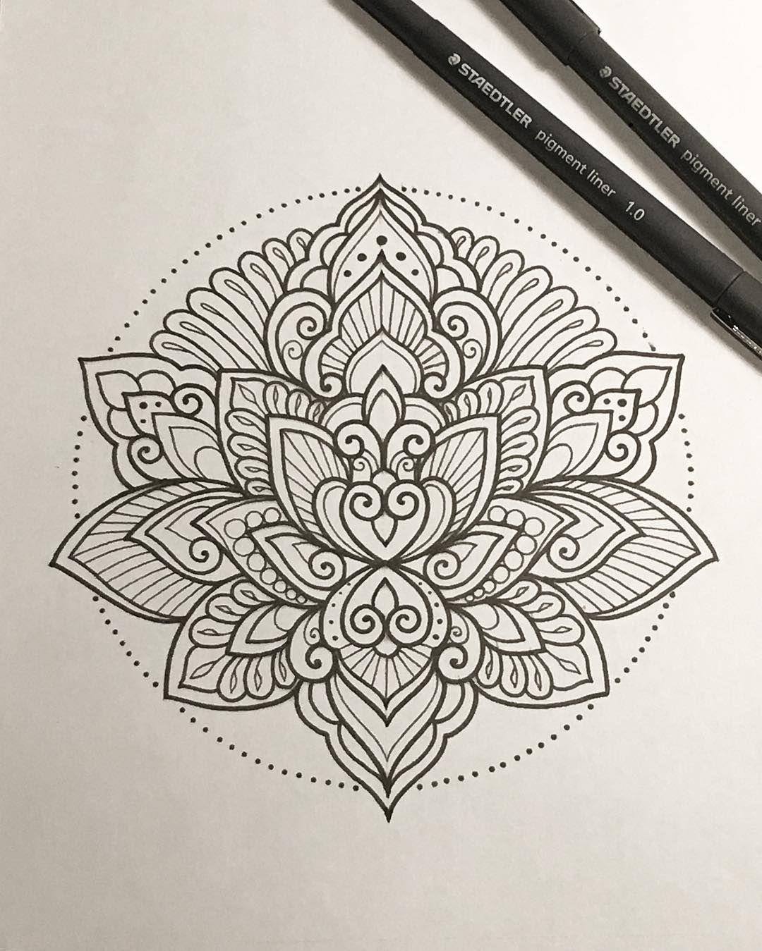 Dessin Mandala À Reproduire. Montrez-Moi Vos Représentations intérieur Dessiner Un Mandala