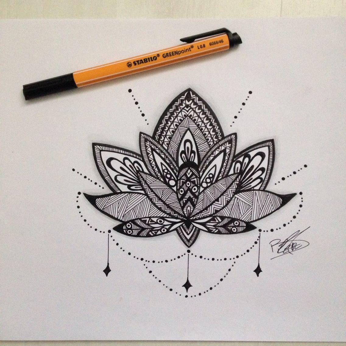 Dessin Mandala Fleur De Lotus | Fleur De Lotus Mandala concernant Dessiner Un Mandala