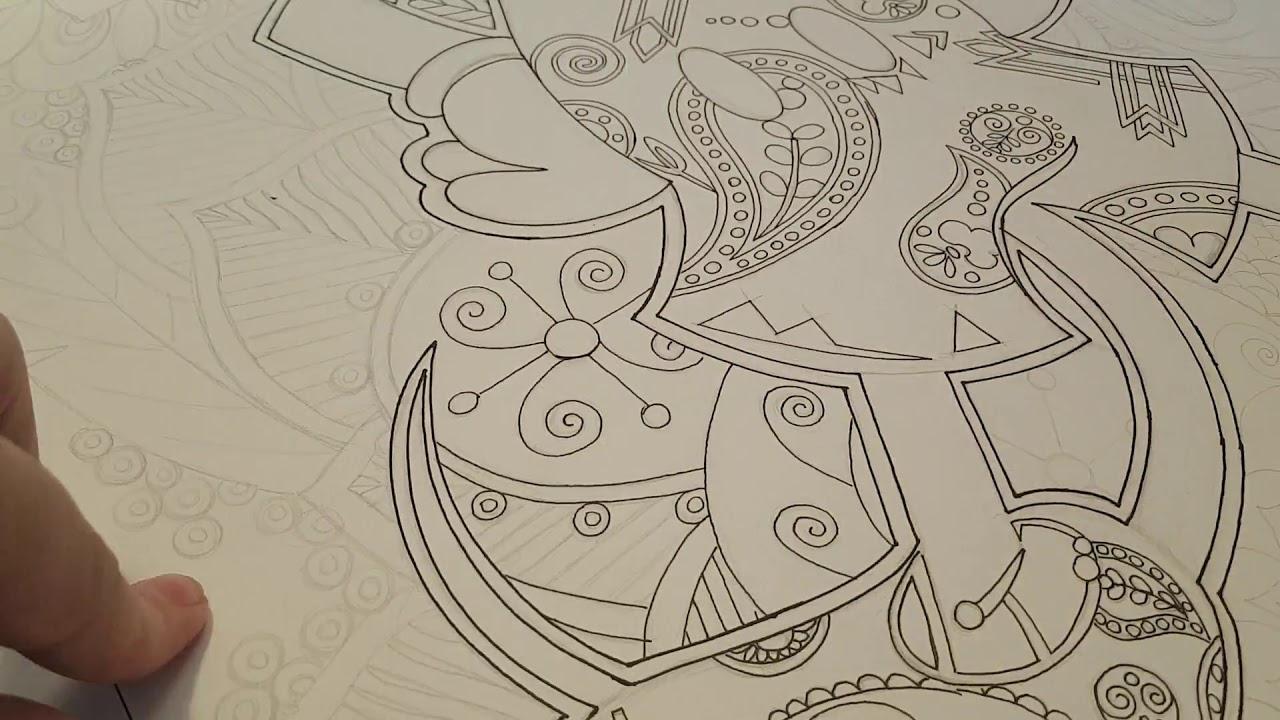 Dessin Mickey Time Lapse Version Mandala destiné Dessiner Un Mandala