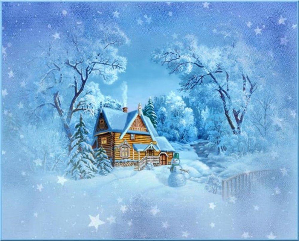 Dessin Paysage D'hiver, Fond Créa - Winter Landscape avec Dessin De Paysage D Hiver