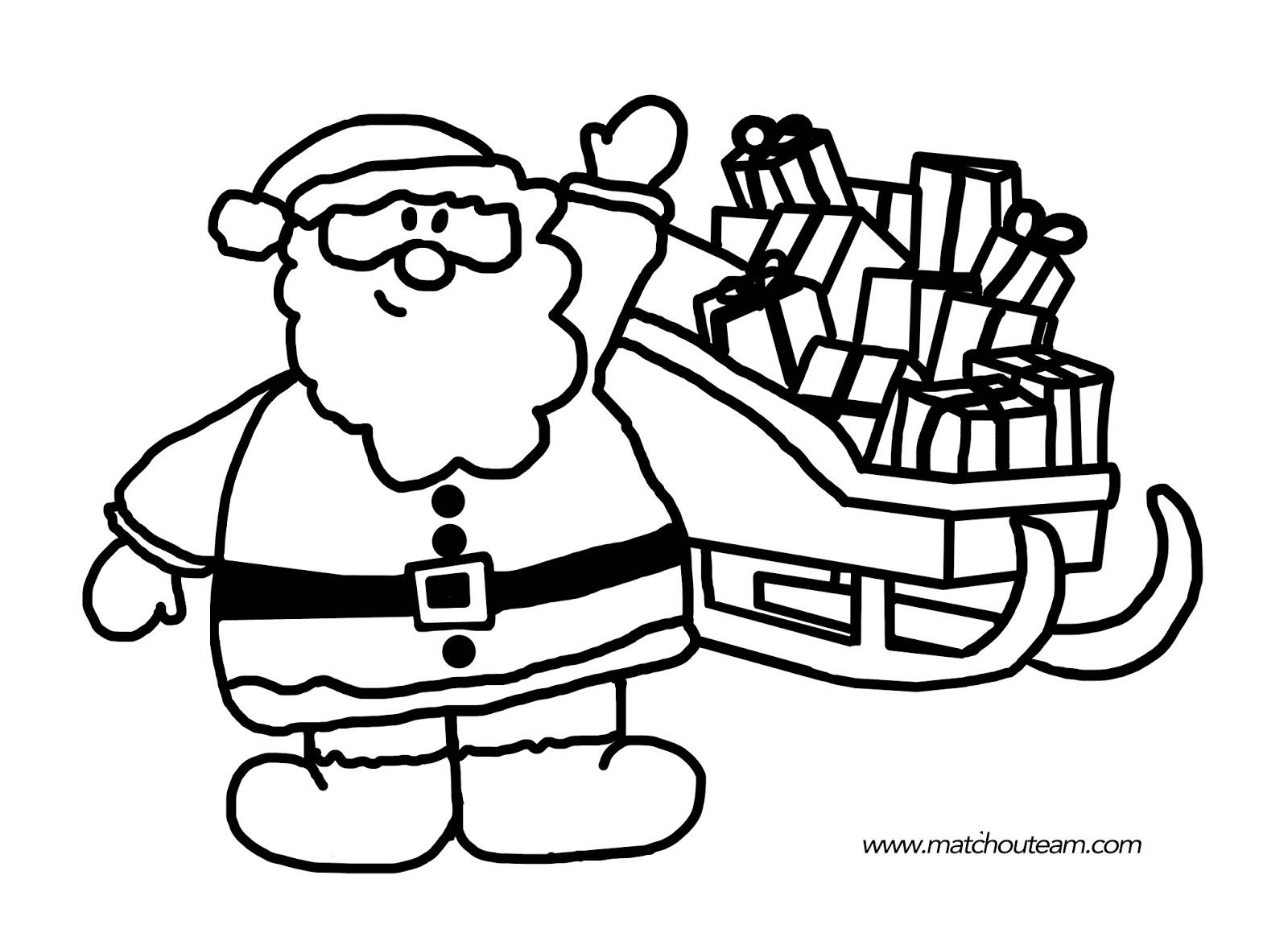 Dessin Pere Noel A Colorier En Ligne destiné Coloriage De Père Noel Gratuit A Imprimer