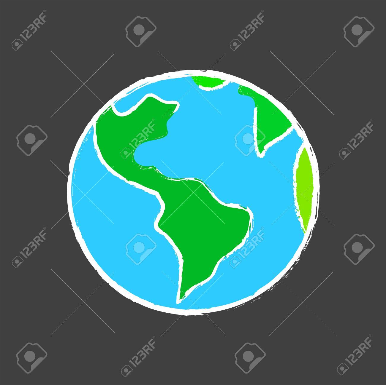 Dessin Planète Terre Sur L'école Blackboard intérieur Image De La Terre Dessin