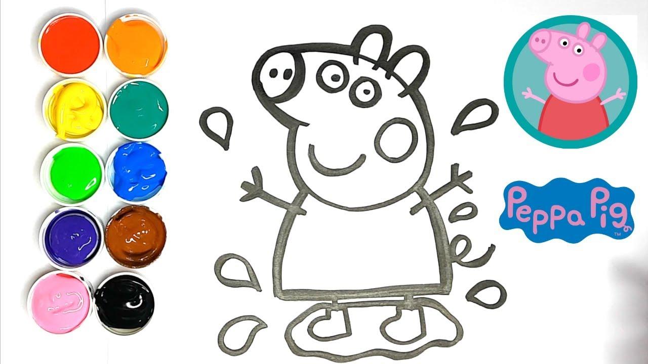 Dessin Pour Bébé - Comment Dessiner Et Colorier Peppa Pig | Kiwi Kids -  Coloriage ✩ destiné Peppa Pig A Colorier