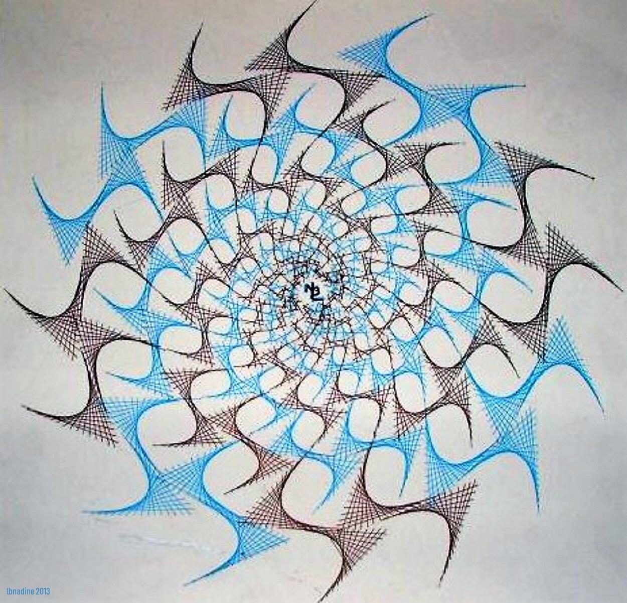 Dessin Rosace Spirale.. Version Originale destiné Dessiner Une Rosace