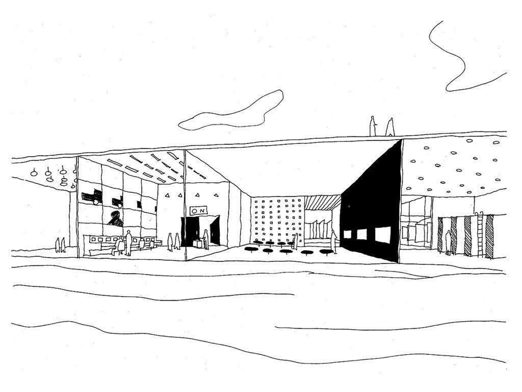 Dessin Sanaa | Tokyo Architecture, Japanese Architecture pour Dessin Theatre