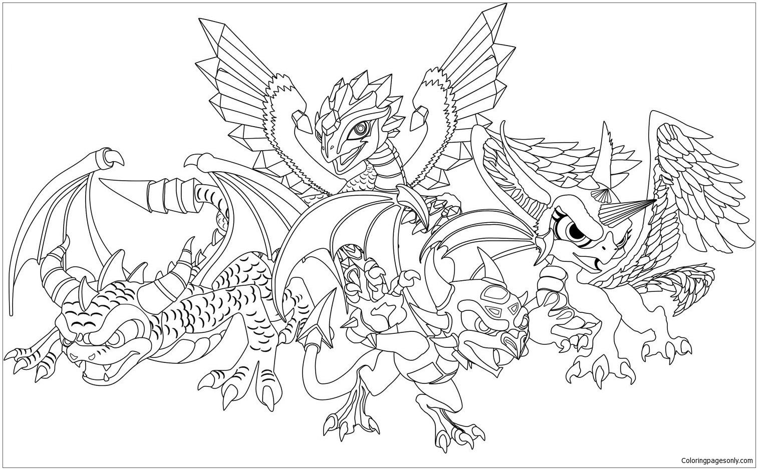 Dessin Skylanders Coloring Page - Free Coloring Pages Online avec Dessin De Skylanders