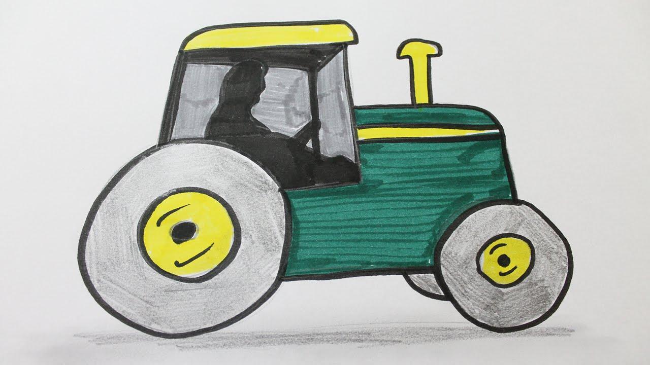 Dessin Tracteur 2. Dessin Imprimer Et Colorier Dun Tracteur destiné Coloriage Tracteur Tom À Imprimer