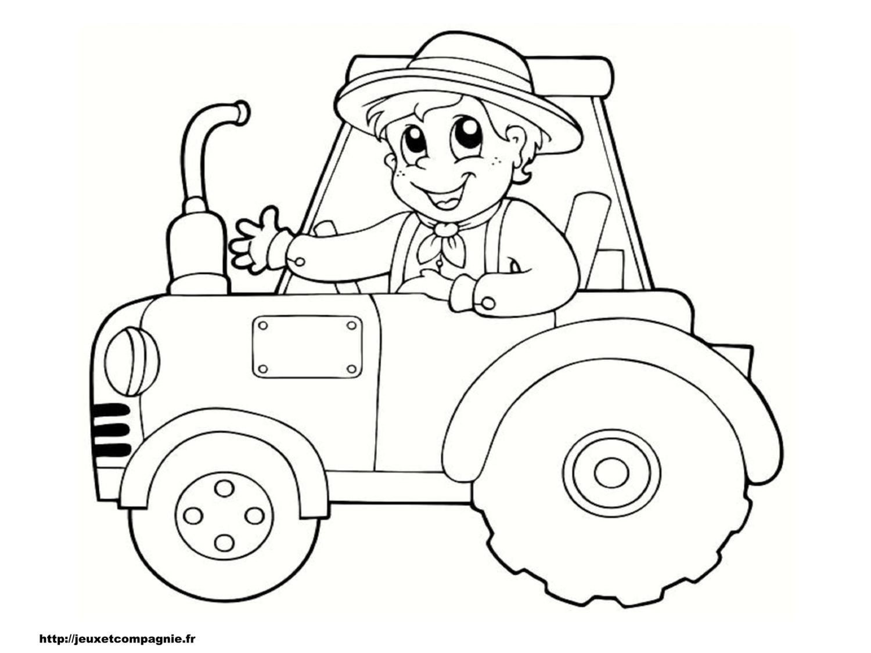Dessin Tracteur 2. Dessin Imprimer Et Colorier Dun Tracteur tout Coloriage Tracteur Tom À Imprimer
