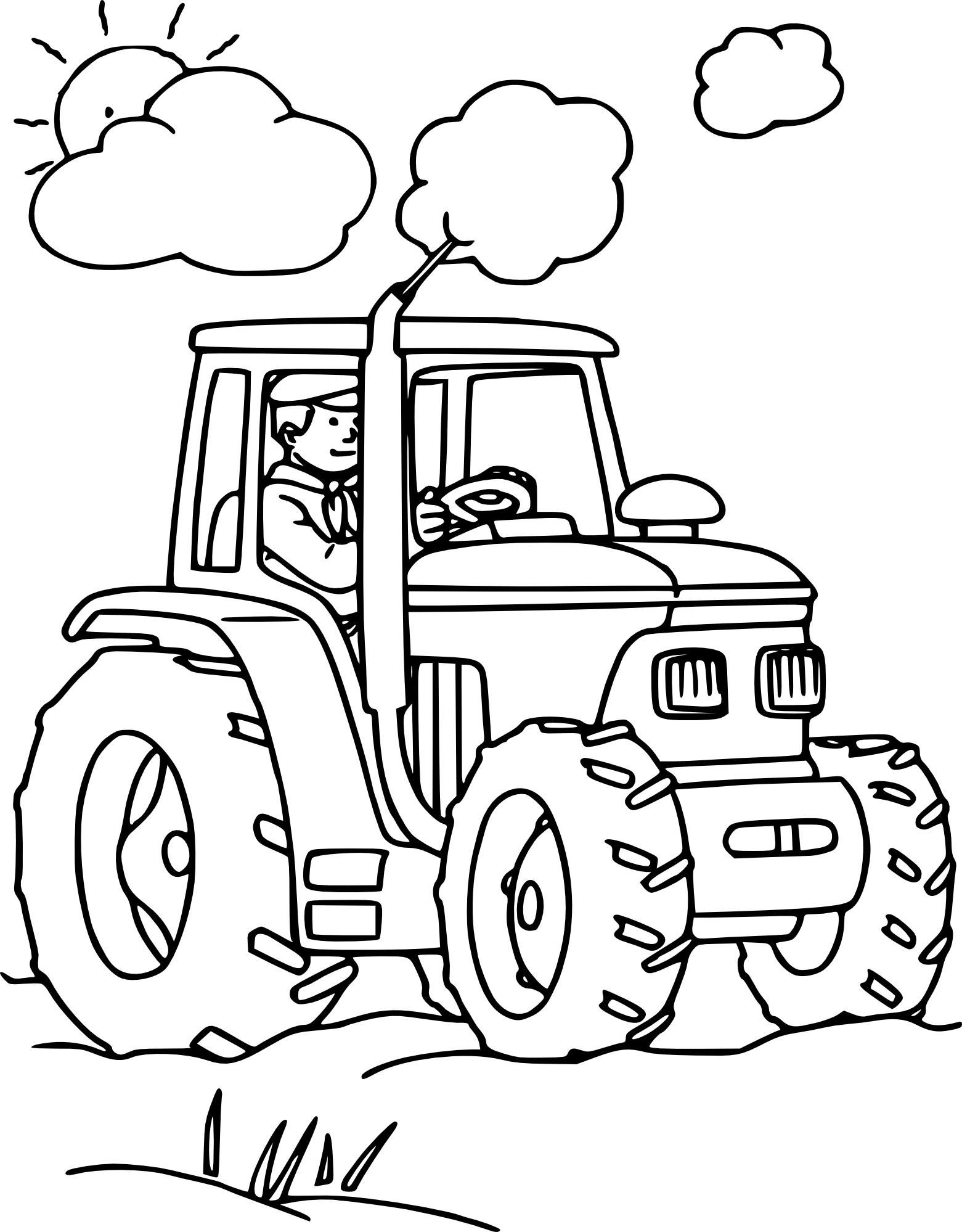 Dessin Tracteur Agricole. Dessin Colorier Dun Tracteur tout Dessin De Tracteur À Colorier