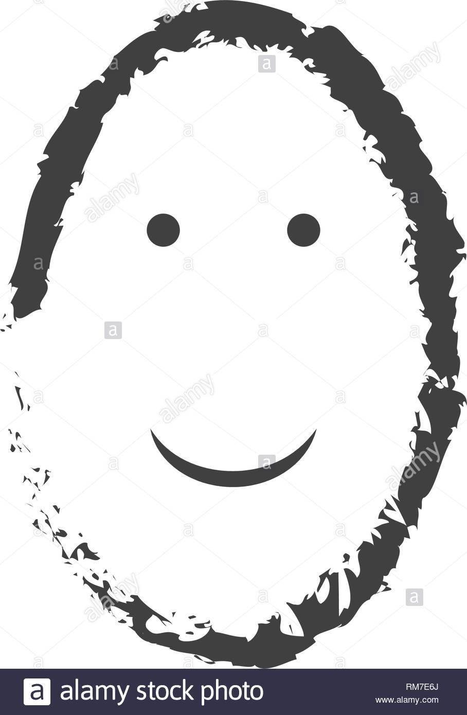 Dessin Vectoriel Simple Sourire De Visage En Forme D'oeufs intérieur Dessin D Oeuf