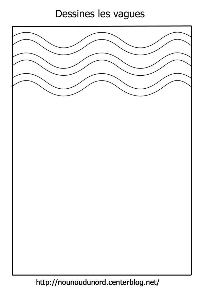 Dessine Les Lignes Horizontales, Verticales, Vagues dedans Dessin De Vague A Imprimer