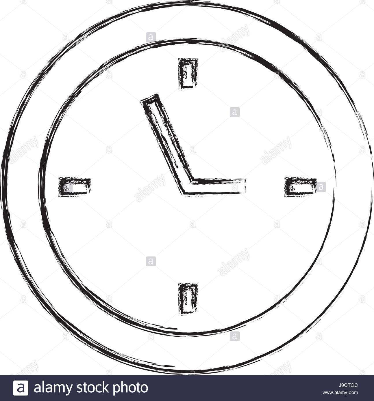 Dessiner Croquis Dessin D'horloge Vecteurs Et Illustration à Dessin D Horloge