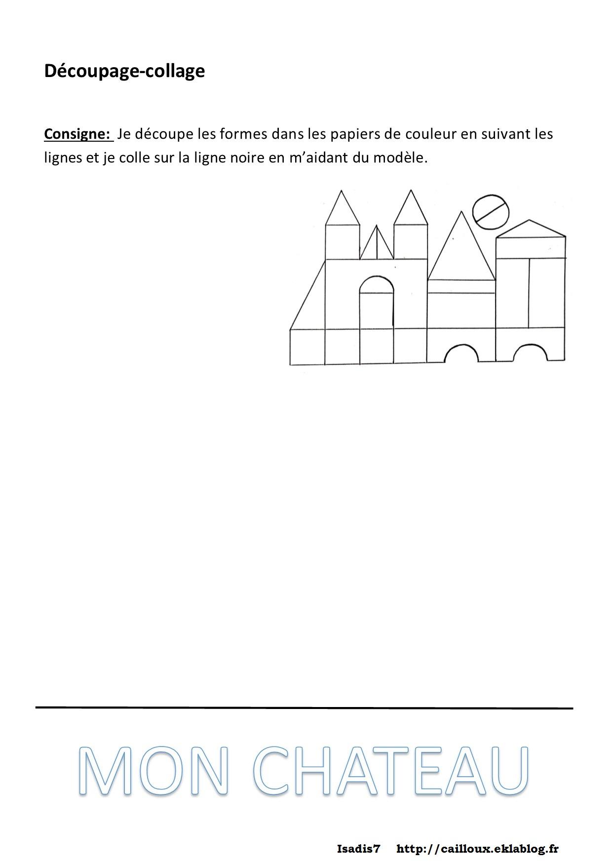 Dessiner Des Formes Géométriques, Découper, Coller - La avec Découpage Maternelle À Imprimer