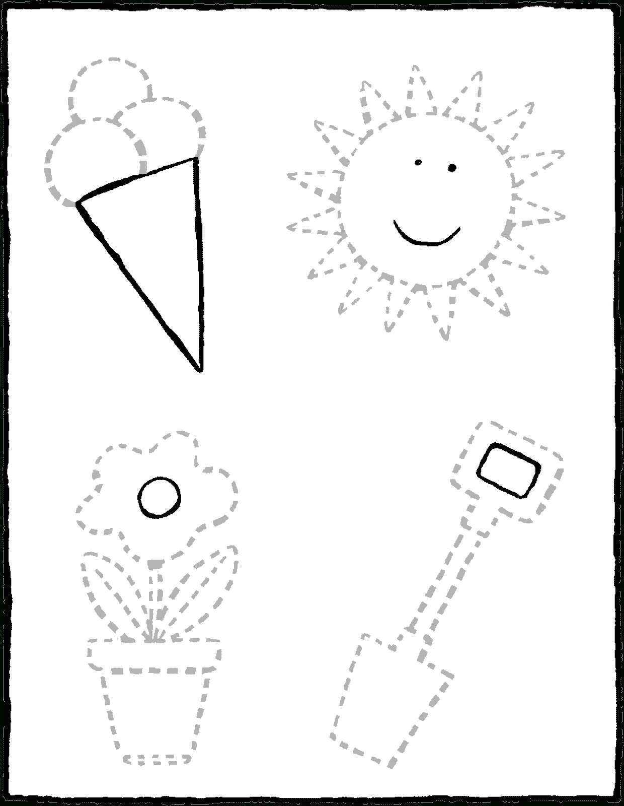 Dessiner Sur Les Pointillés - Kiddicoloriage à Dessin En Pointillé