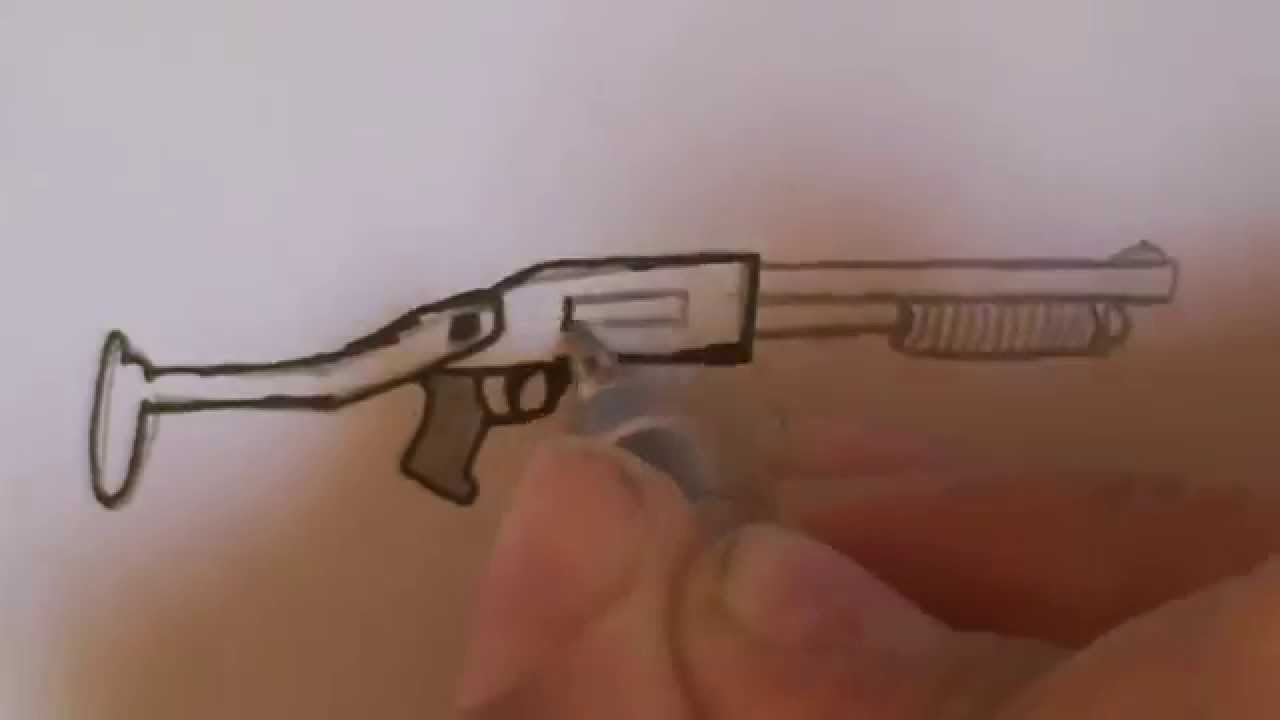 Dessiner Un Fusil À Pompe - à Comment Dessiner Un Fusil