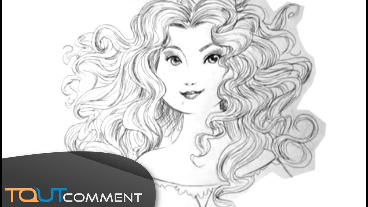 Dessiner Une Princesse Disney : Mérida De Rebelle (Brave) avec Dessin De Rebelle