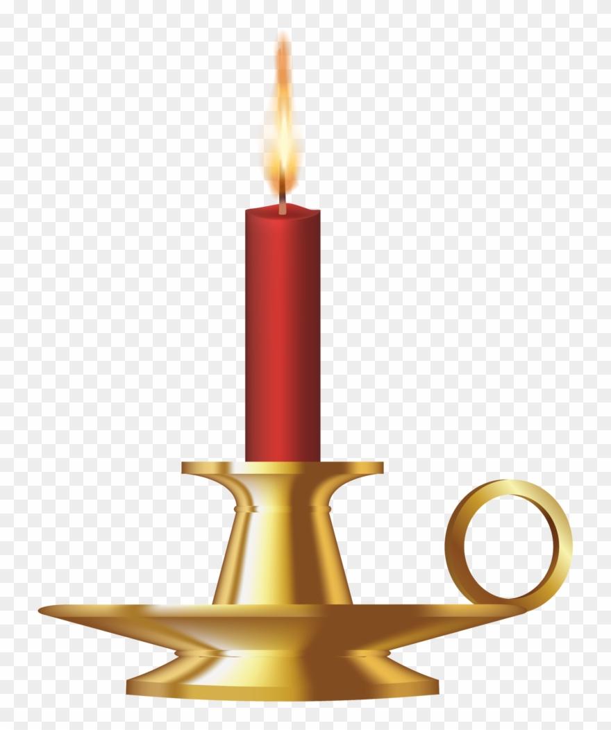 Dessins Bougies - Candle In Holder Cliparts - Png Download concernant Dessin Sur Bougie