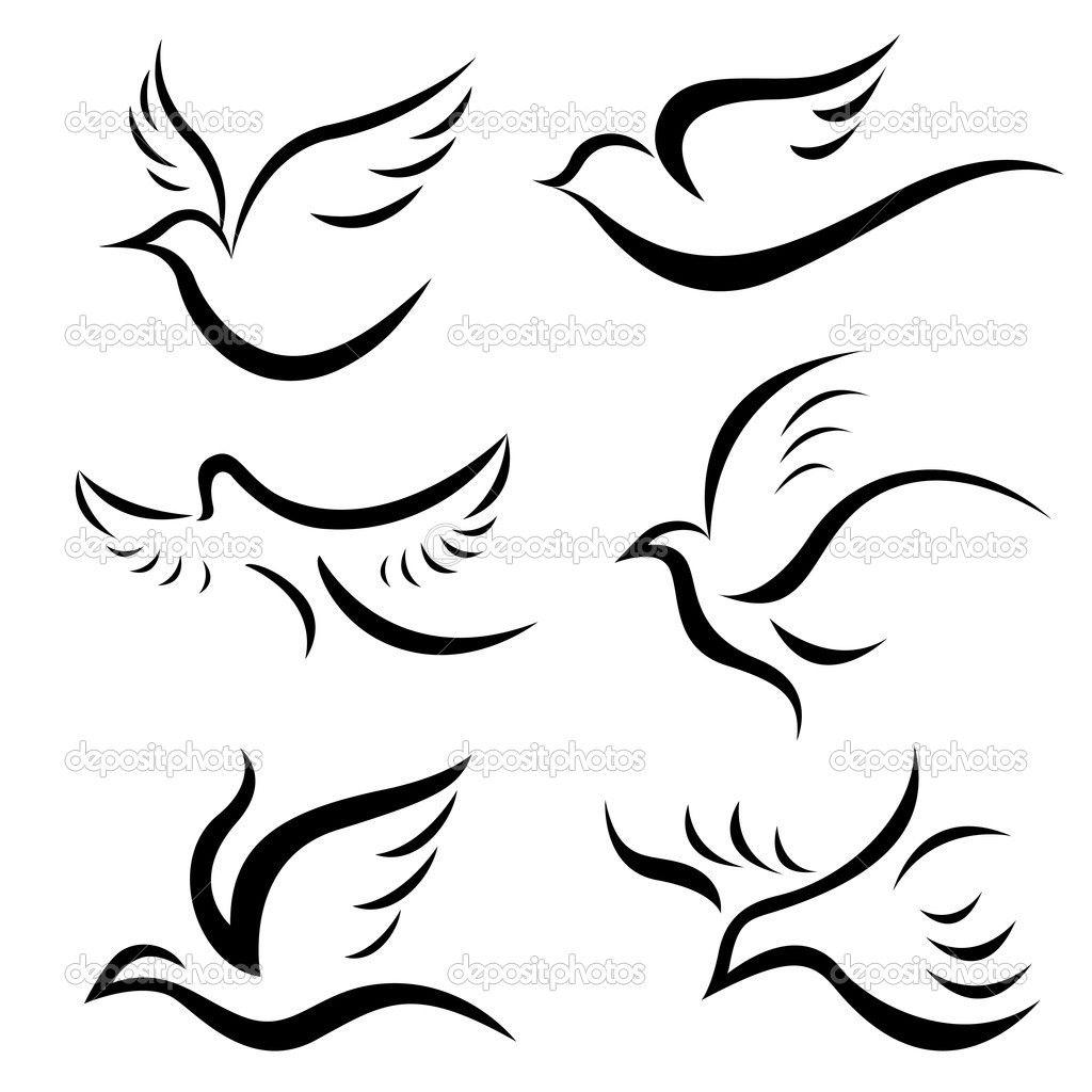 Dessins D'oiseaux - Illustration: 9981517 … | Dessin Oiseau pour Dessin D Oiseau Simple