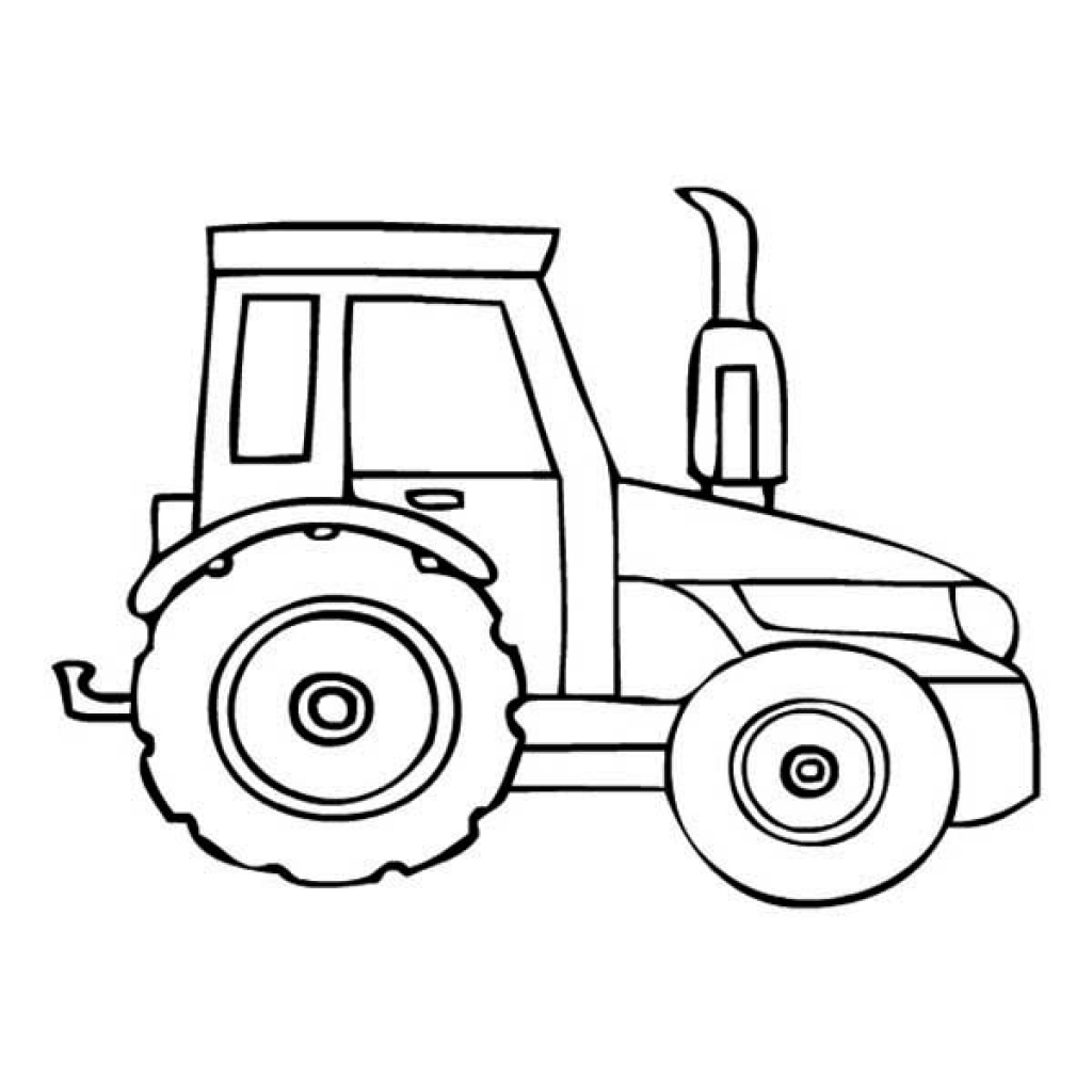 Dessins Et Coloriages: Page De Coloriage Grand Format À à Tracteur À Colorier