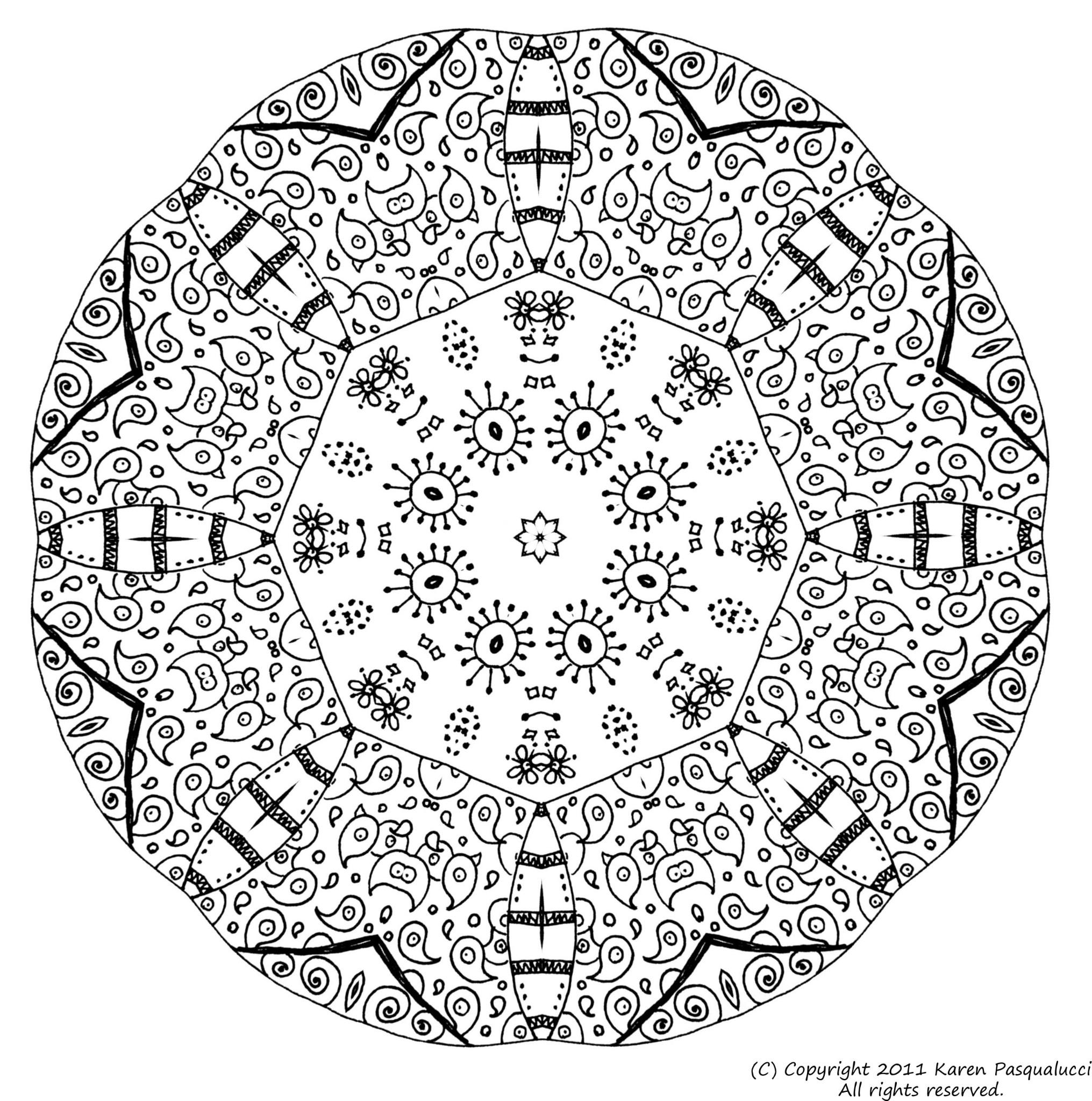 Dessins Gratuits À Colorier - Coloriage Adulte Difficile À pour Coloriage De Mandala Difficile A Imprimer