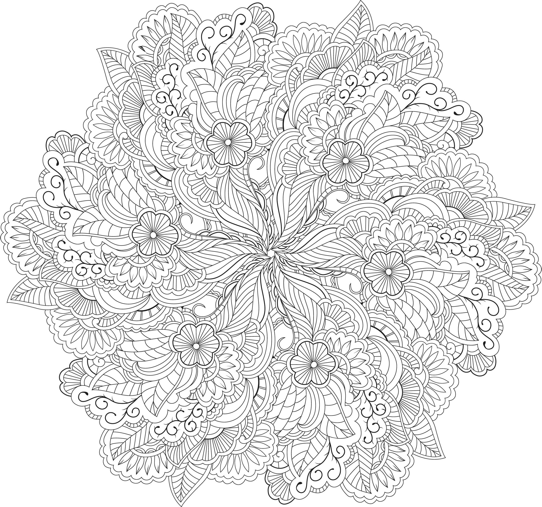 Dessins Gratuits À Colorier - Coloriage Adulte Mandala À à Coloriage De Mandala Difficile A Imprimer