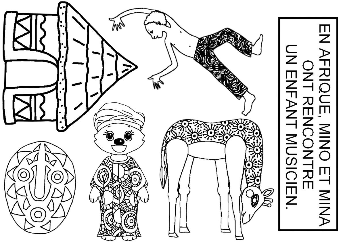 Dessins Gratuits À Colorier - Coloriage Afrique À Imprimer avec Coloriage Afrique À Imprimer