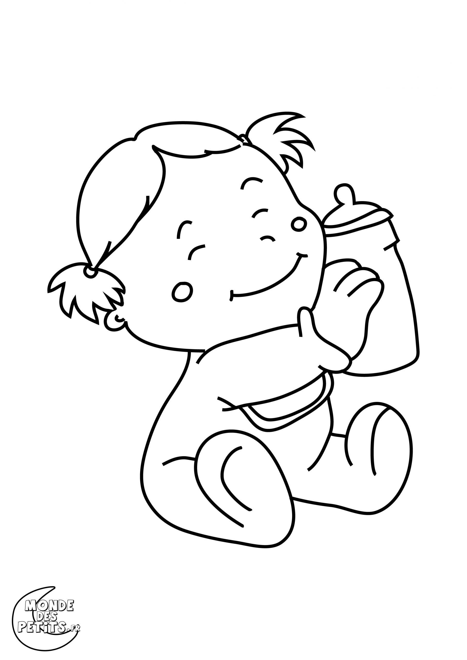 Dessins Gratuits À Colorier - Coloriage Bebe À Imprimer serapportantà Dessin Pour Enfant À Colorier