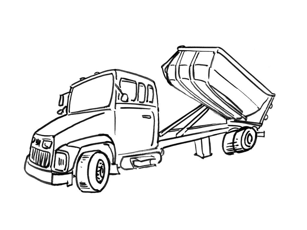 Dessins Gratuits À Colorier - Coloriage Camion Benne À Imprimer destiné Dessin D Un Camion