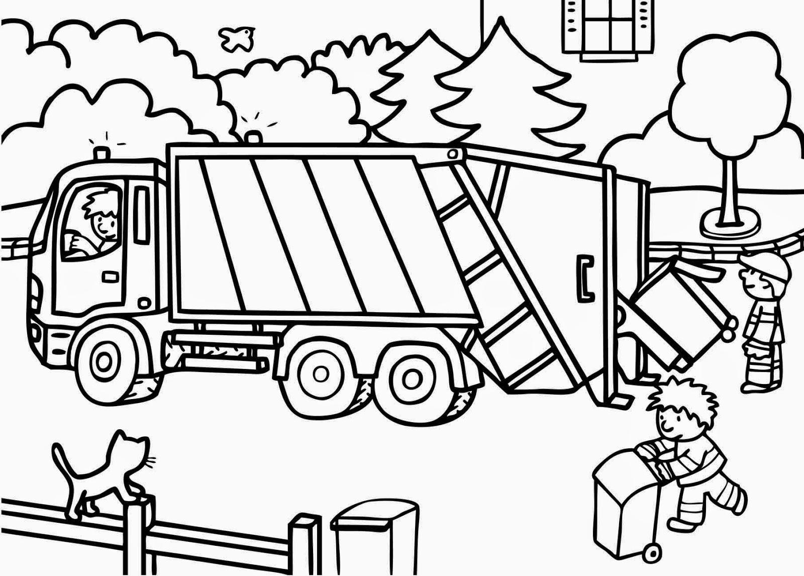 Dessins Gratuits À Colorier - Coloriage Camion Poubelle À à Dessin D Un Camion