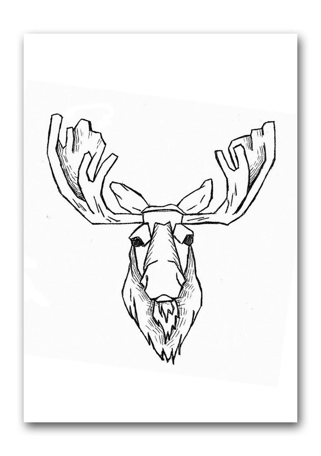 Dessins Gratuits À Colorier - Coloriage Caribou À Imprimer pour Caribou Dessin