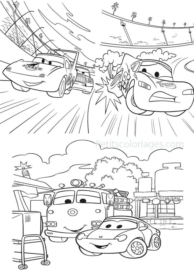Dessins Gratuits À Colorier - Coloriage Cars Flash Mcqueen À tout Coloriage De Flash Mcqueen