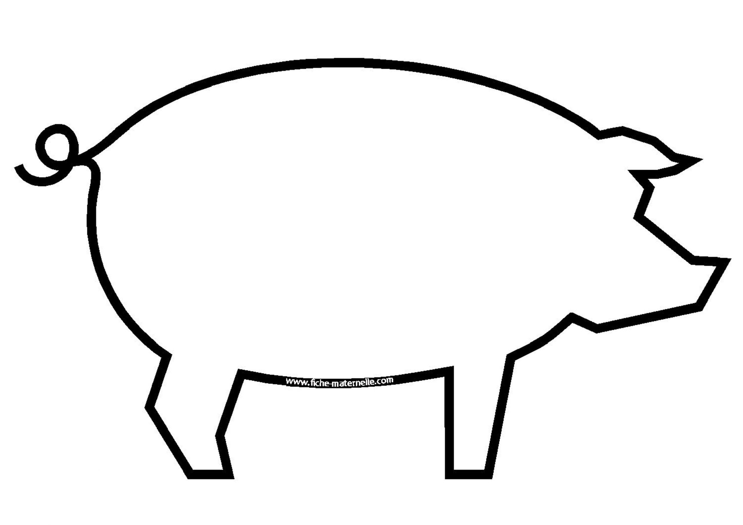 Dessins Gratuits À Colorier - Coloriage Cochon À Imprimer serapportantà Dessin Cochon A Colorier