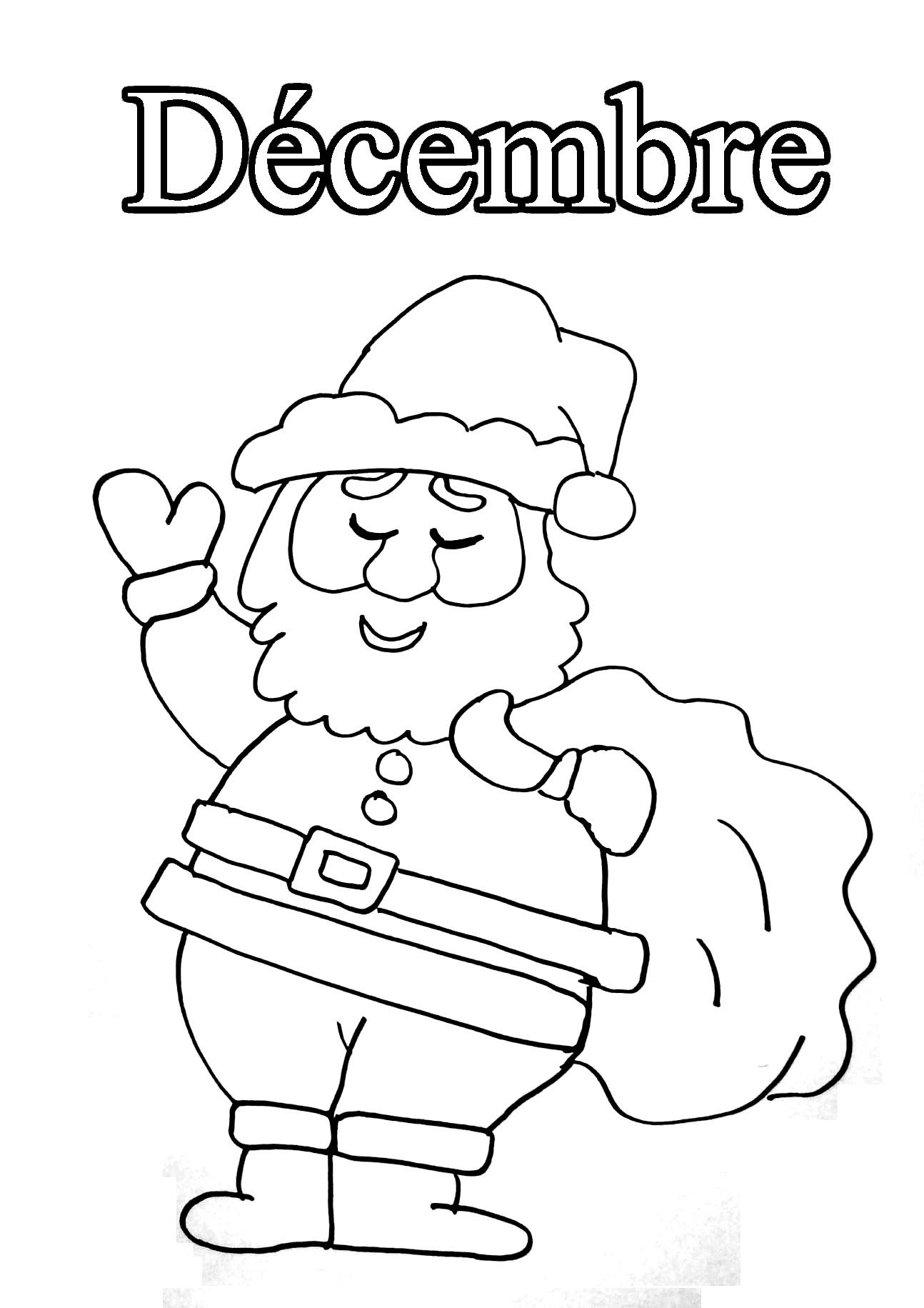 Dessins Gratuits À Colorier - Coloriage Decembre À Imprimer avec Mois À Colorier Maternelle