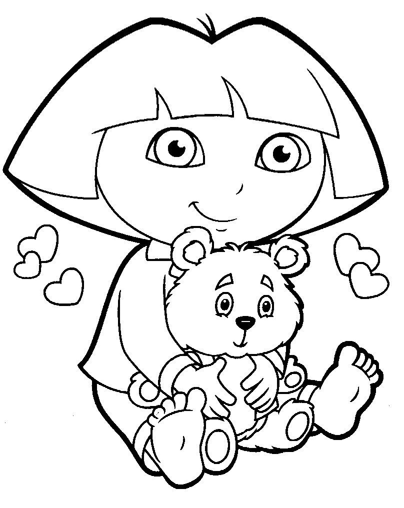Dessins Gratuits À Colorier - Coloriage Dora À Imprimer destiné Coloriage Dora Princesse