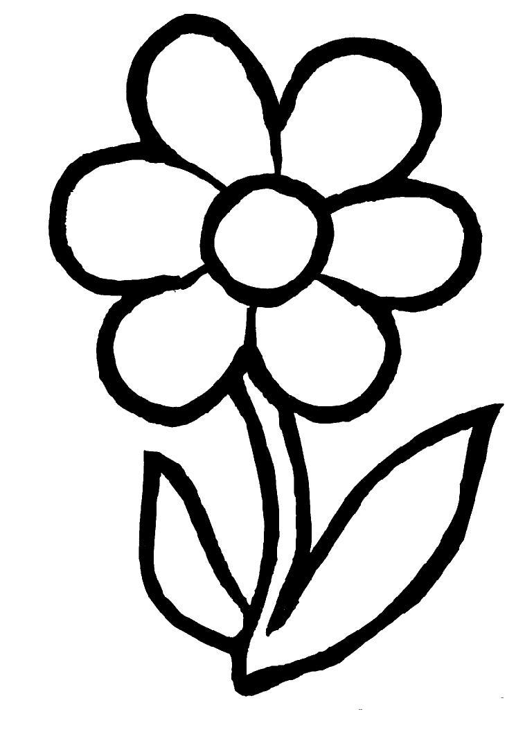 Dessins Gratuits À Colorier - Coloriage Fleur À Imprimer dedans Dessin A Colorier De Fleur