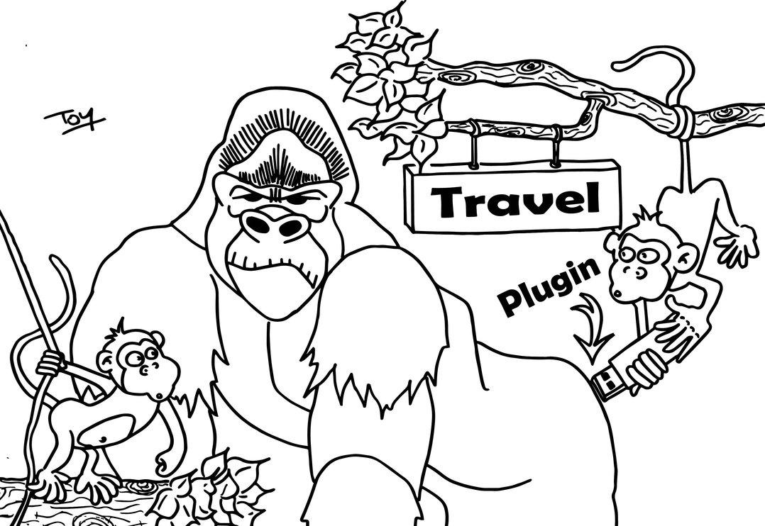 Dessins Gratuits À Colorier - Coloriage Gorille À Imprimer tout Coloriage Gorille