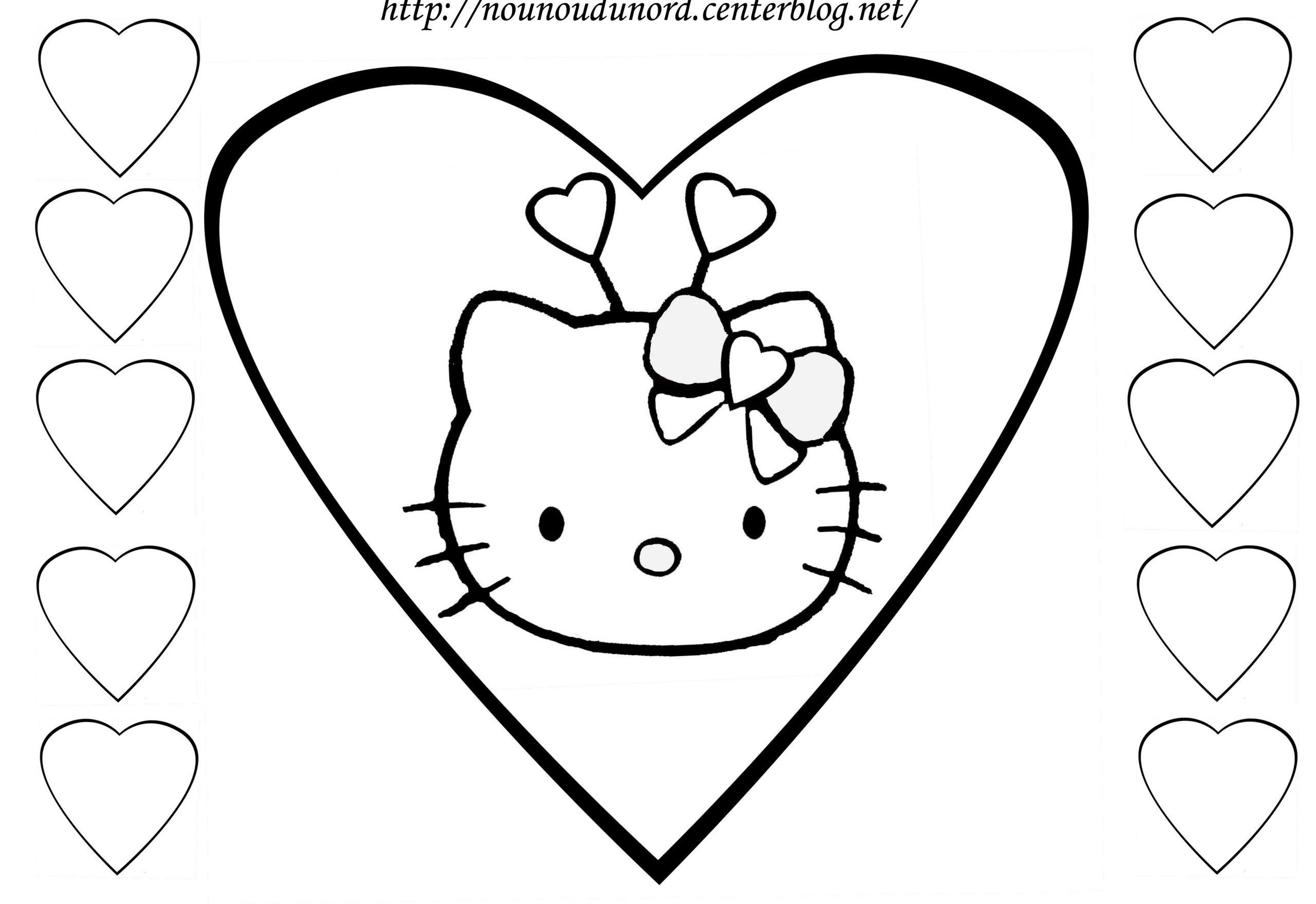 Dessins Gratuits À Colorier - Coloriage Hello Kitty intérieur Faire Coloriage Gratuit Sur Ordinateur