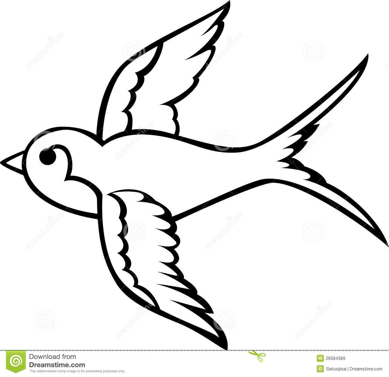 Dessins Gratuits À Colorier - Coloriage Hirondelle À Imprimer intérieur Dessin D Oiseau Simple