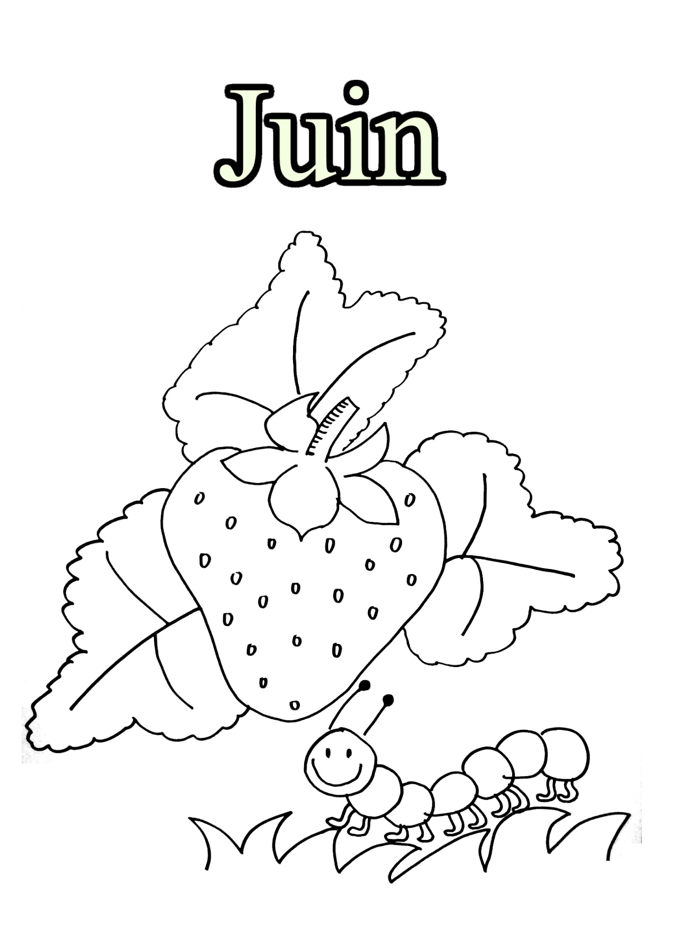 Dessins Gratuits À Colorier - Coloriage Juin À Imprimer pour Mois À Colorier Maternelle