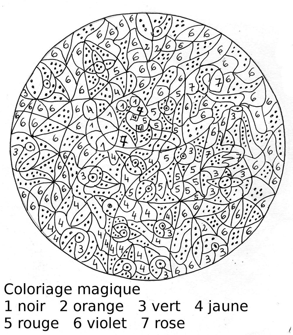 Dessins Gratuits À Colorier - Coloriage Magique À Imprimer dedans Coloriage Magique Dur