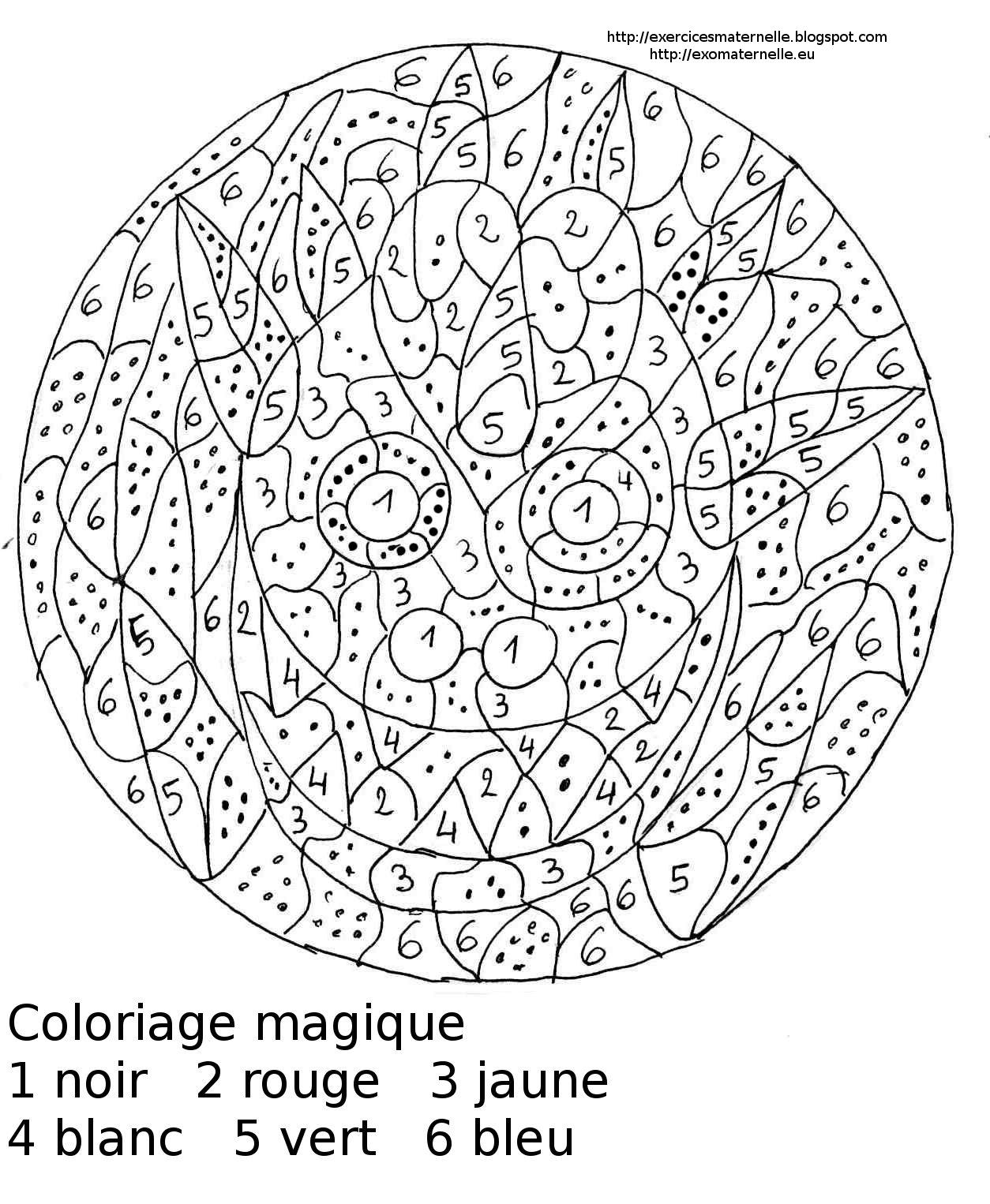 Dessins Gratuits À Colorier - Coloriage Magique Maternelle À dedans Coloriage Codé Maternelle
