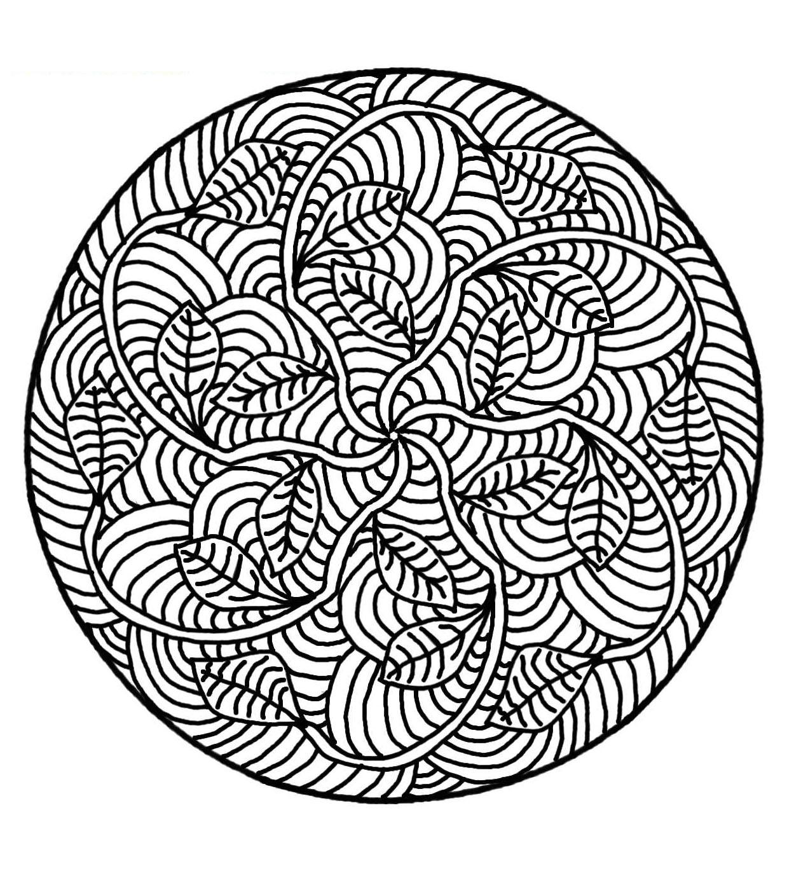 Dessins Gratuits À Colorier - Coloriage Mandala Difficile À tout Mandala À Imprimer Facile