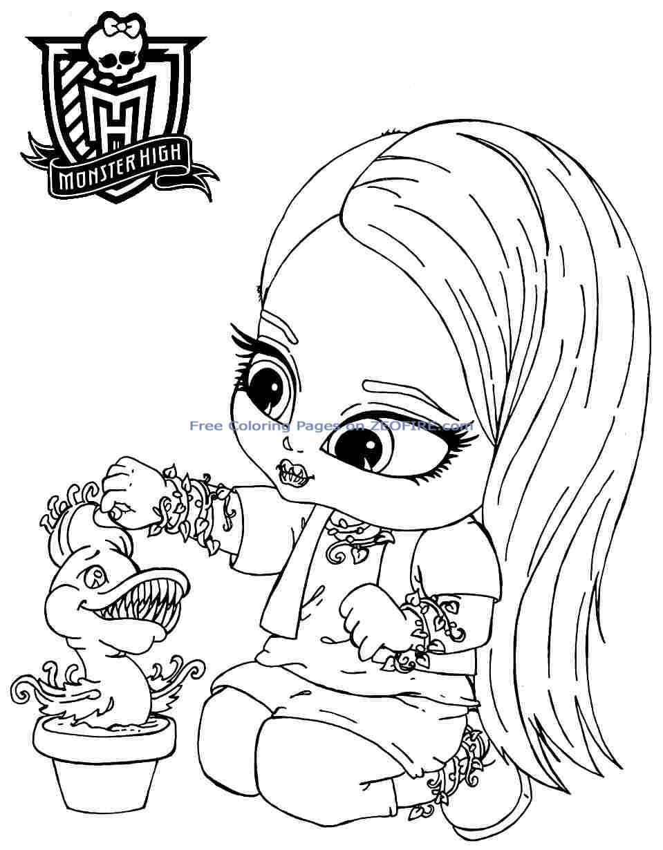 Dessins Gratuits À Colorier - Coloriage Monster High Baby À pour Image Monster High A Imprimer