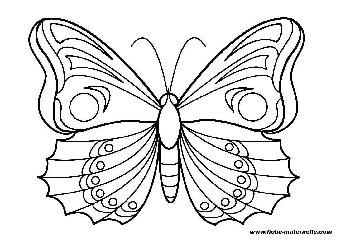 Dessins Gratuits À Colorier - Coloriage Papillon À Imprimer tout Masque Papillon À Imprimer