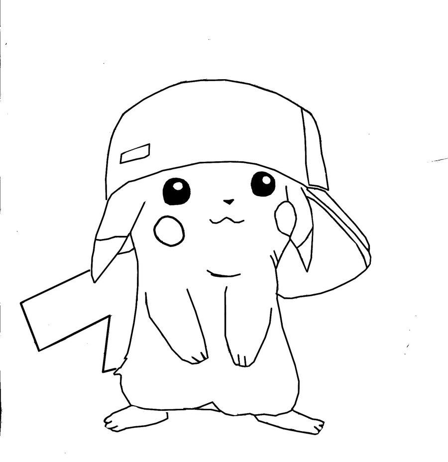 Dessins Gratuits À Colorier - Coloriage Pikachu À Imprimer encequiconcerne Dessin De Pikachu Facile