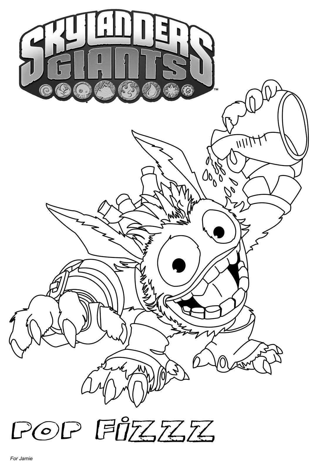 Dessins Gratuits À Colorier - Coloriage Skylanders À Imprimer destiné Dessin De Skylanders