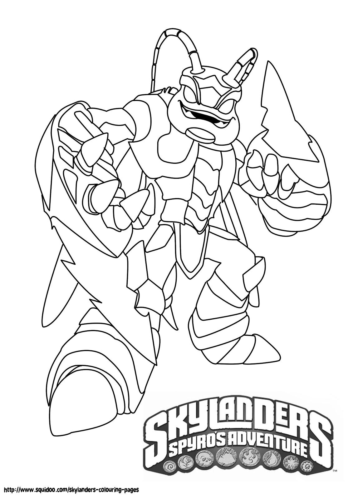 Dessins Gratuits À Colorier - Coloriage Skylanders À Imprimer encequiconcerne Dessin De Skylanders