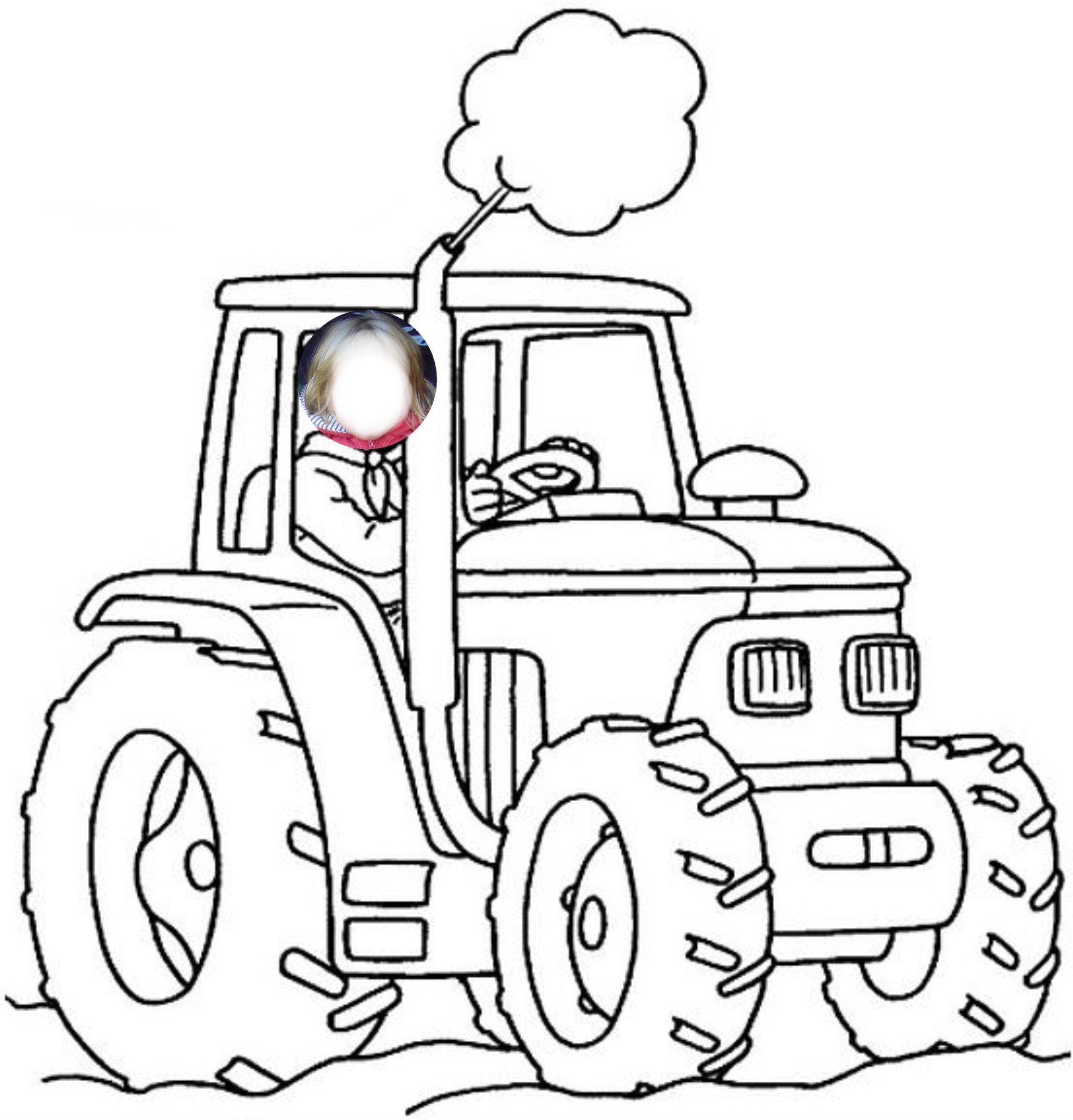 Dessins Gratuits À Colorier - Coloriage Tracteur À Imprimer dedans Sam Le Tracteur Dessin Anime